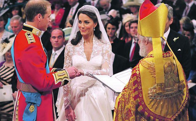 Poroka princa Viljema in Kate Middleton. FOTO: www.royal.uk