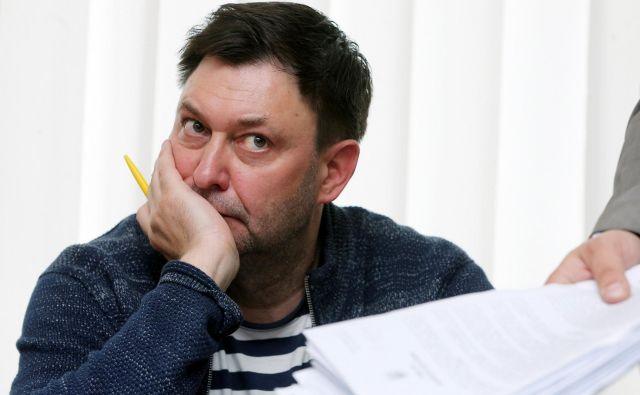 Kirila Višinskega so obtožili, da je sodeloval pri »pripravi ruske aneksije ukrajinskega polotoka«. FOTO: Stringer/Reuters