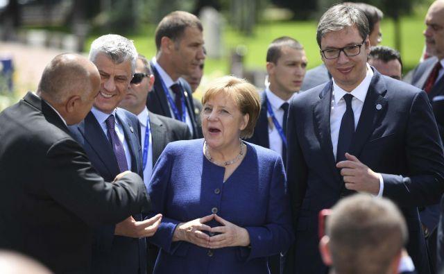 Glavno sporočilo vrha v Sofiji je bila potrditev evropske perspektivešestih zahodnobalkanskih partneric, ki jih je Bruselj spodbudil z novimi iniciativami za Balkan. FOTO: Vassil Donev/Reuters