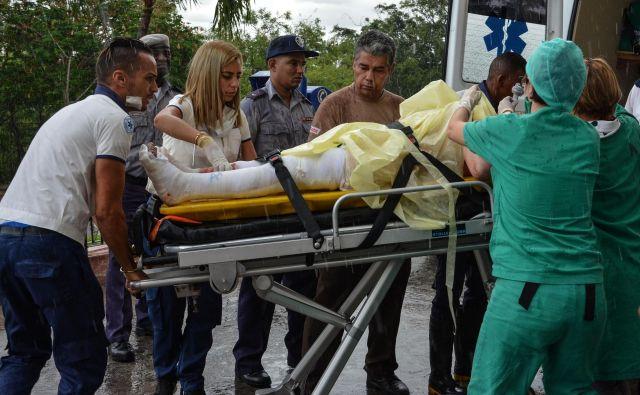 Nesrečo so preživeli le trije potniki. FOTO: Marcelino Vazquez/Afp