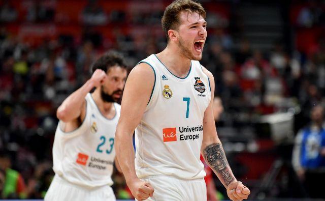 Luka Dončić je navduševal tudi v evroligaškem polfinalu. Foto Andrej Isaković/AFP