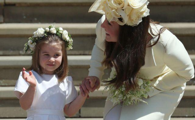 Princesa Charlotte je navdušila. FOTO: Jane Barlow/AFP
