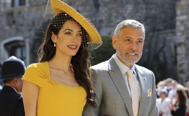 Amal in George Clooney. FOTO: Gareth Fuller/AP