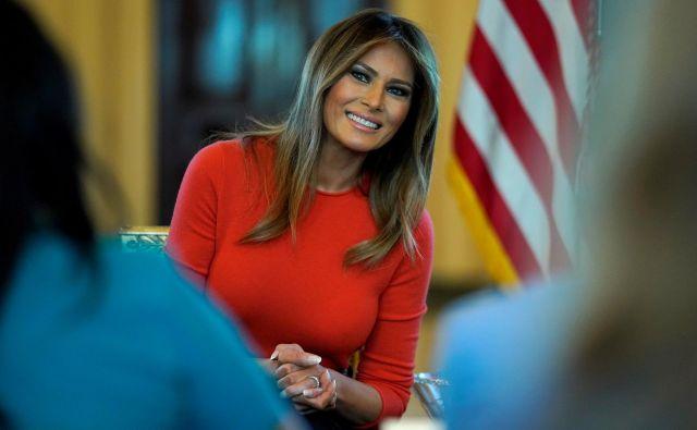 Melania Trump se je zjutraj vrnila v Belo hišo. FOTO: Joshua Roberts/Reuters
