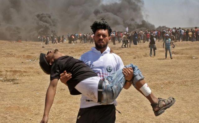 Žrtev izraelskih ostrostrelcev. FOTO: Afp