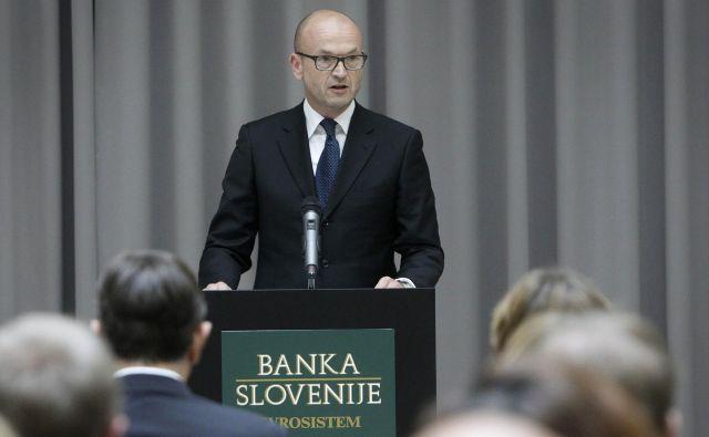Boštjan Jazbec se je od Banke Slovenije poslovil v družbi odvetnika. FOTO: Leon Vidic