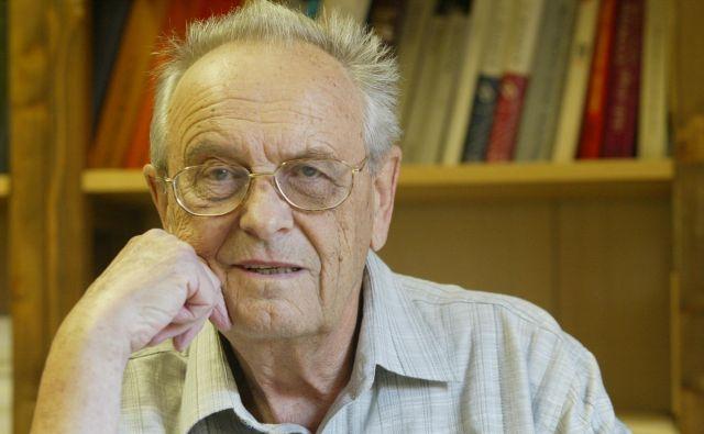 Akademik Janko Pleterski nima več časa in ga razprave ne zanimajo. FOTO: Blaž Samec