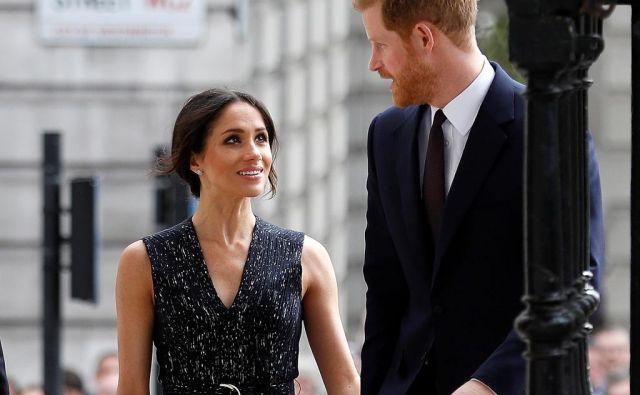 Bodoča vojvodinja in vojvoda Sussexa. FOTO: Reuters/Reuters