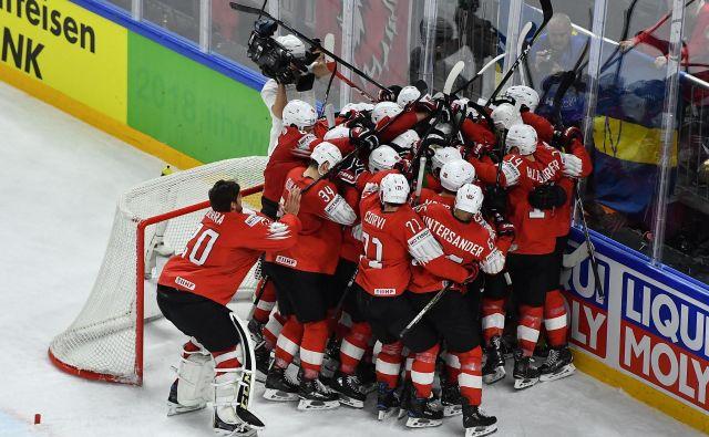 Švicarsko veselje je bilo nepopisno. FotoJoe Klamar/AFP