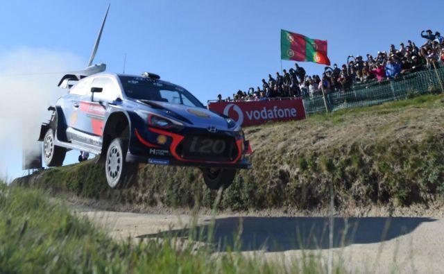 Thierry Neuville je bil najboljši na Portugalskem. FOTO: Francisco Leong/Afp