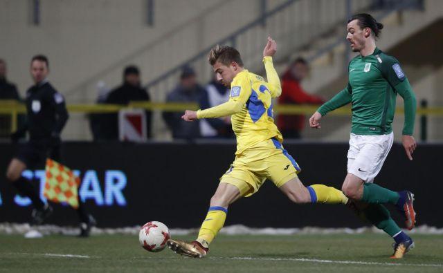 Dario Melnjak je dosegel prvi gol za Domžale. FOTO: Leon Vidic/Delo