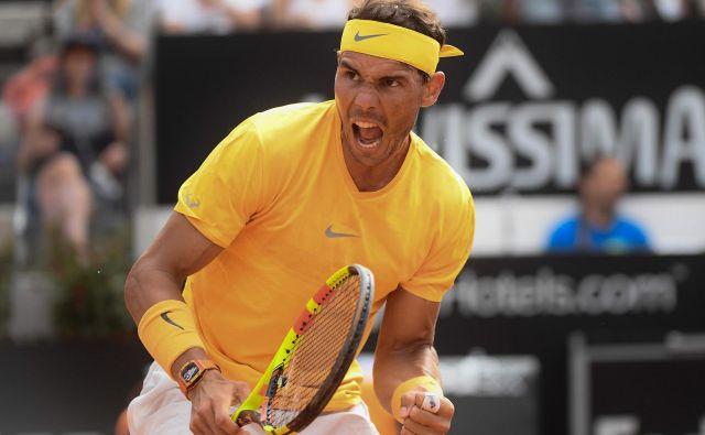Rafael Nadal je osmič osvojil turnir iz serije masters v Rimu. FOTO: Filippo Monteforte/Afp