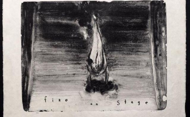 David Lynch: Ogenj na odru, 2008 (litografija, 66 x 89 cm). FOTO: Z dovoljenjem: Item Éditions