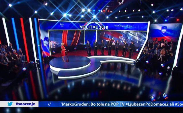 Prvo soočenje kandidatov za državnozborske volitve. FOTO: Pop TV