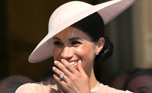 Novopečena suseška vojvodinja je bila na zabavi dobro razpoložena.FOTO: Dominic Lipinski/AFP