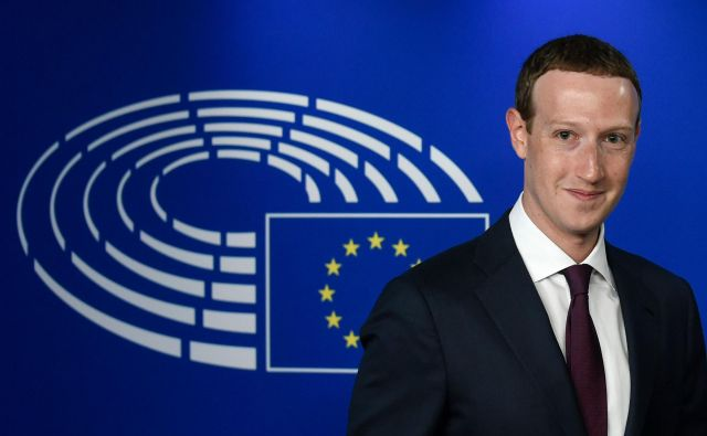 Mark Zuckerberg v evropskem parlamentu FOTO: John Thys/AFP