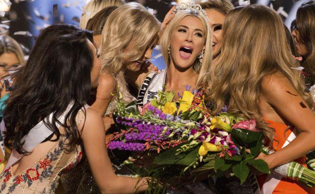 V ameriškem mestu Shreveport so razglasili miss Universe 2018. Letos je naziv najlepše Američanke pripadel Sarah Rose Summers, miss Nebraske.FOTO: Brittany Elizabeth Strickland/AP