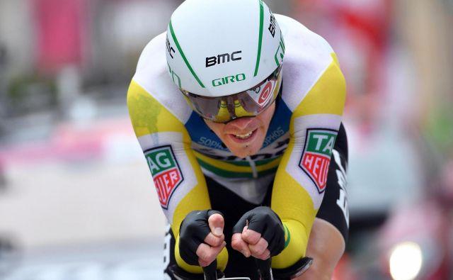 Rohan Dennis je bil prvič doslej najhitrejši na etapi Gira. Foto Daniel dal Zennaro/AP