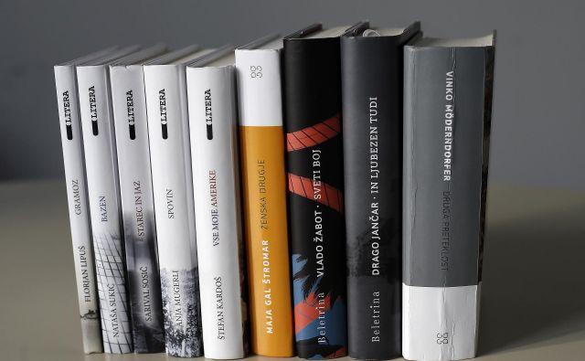 Finalni romani za nagrado kresnik (manjka roman Evalda Flisarja). FOTO: Blaž Samec