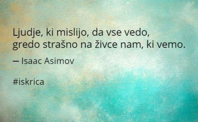 Sredina iskrica dneva FOTO: Isaac Asimov