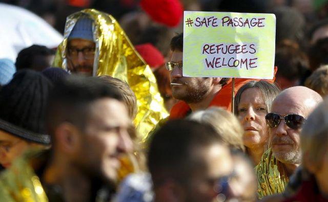 Pozivov k bolj človekoljubni politiki do migrantov v Belgiji ni malo. FOTO: Reuters
