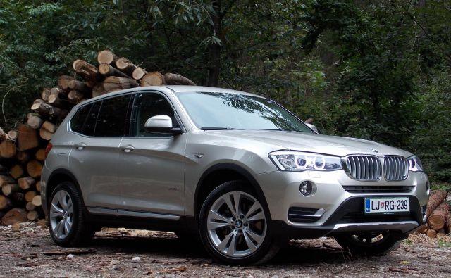Med posameznimi modeli sta se najbolje izkazala BMW X3 in serije 6, oba letnika 2015. Na fotografiji model X3. FOTO: Andrej Brglez