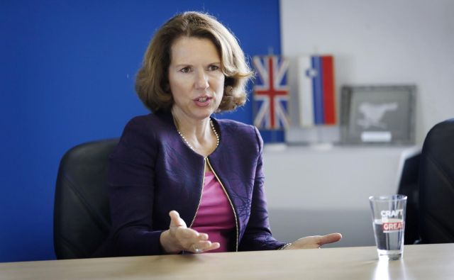 Caroline Wilson, direktorica direktorata za Evropo na britanskem zunanjem ministrstvu. FOTO: Leon Vidic/Delo