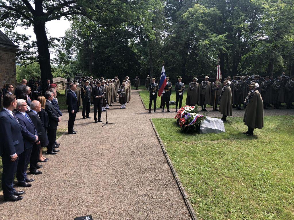 Pahor in Duda odkrila spomenik padlim Slovencem na galicijski fronti