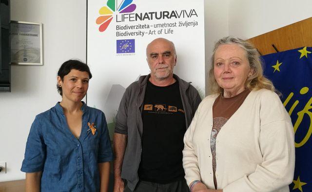 Dr. Anamarija Žagar, dr. Davorin Tome in Marjana Hoenigsfeld Adamič. FOTO: Simona Fajfar/