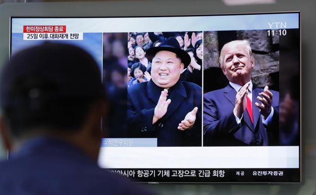 Srečanje Kim Džong Una in Donalda Trumpa je načrtovano za junij v Singapurju. FOTO: Lee Jin-man/AP
