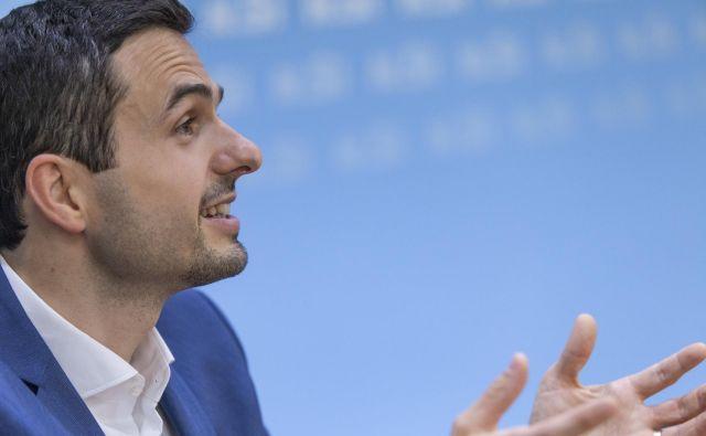 Matej Tonin, predsednik stranke NSi. FOTO: Voranc Vogel/Delo