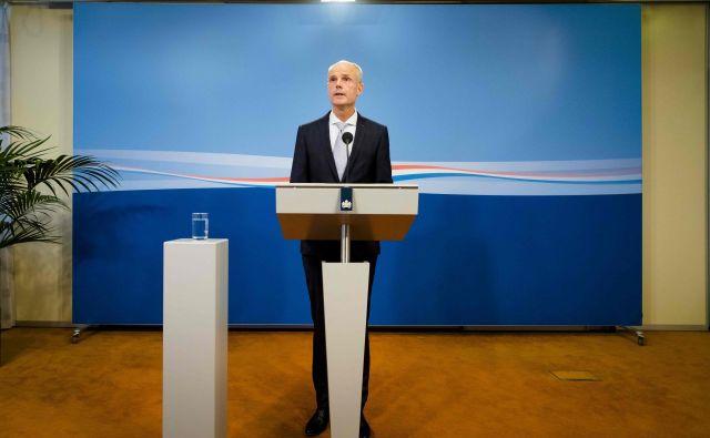Nizozemski zunanji minister Stef Blok na današnji tiskovni konferenci. FOTO: Bart Maat/AFP