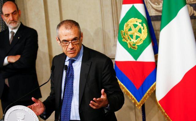 Bo Cottarelli uspešen pri sestavi vlade? FOTO: Tony Gentile/Reuters