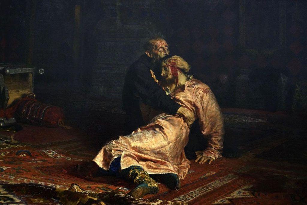 Vandal hudo poškodoval sliko Ilje Repina