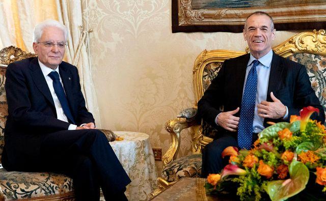 Cottarelli in Mattarella naj bi se ponovno sestala jutri dopoldne. FOTO: AFP