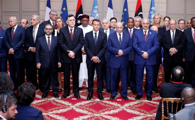 Mednarodna konferenca o Libiji v Elizejski palači v Parizu FOTO: Reuters