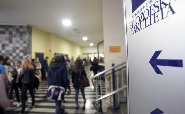 osebe ženskega spola v internih pravilnikih filozofske fakultete ne bodo več opomba pod črto.FOTO: Jure Eržen/Delo