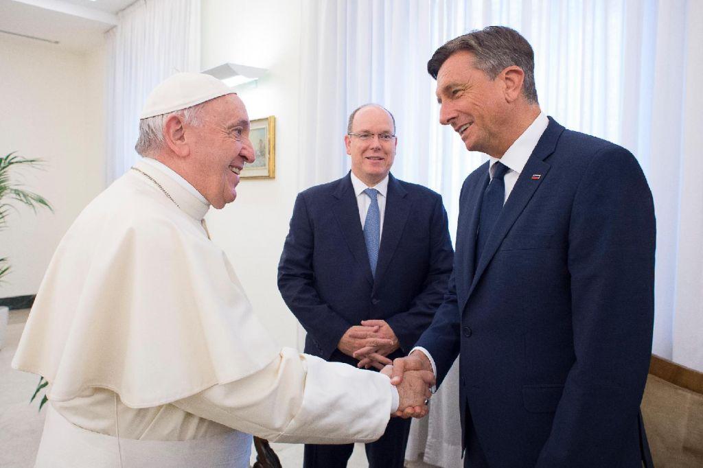 Pahor in Opeka pri papežu Frančišku (FOTO)