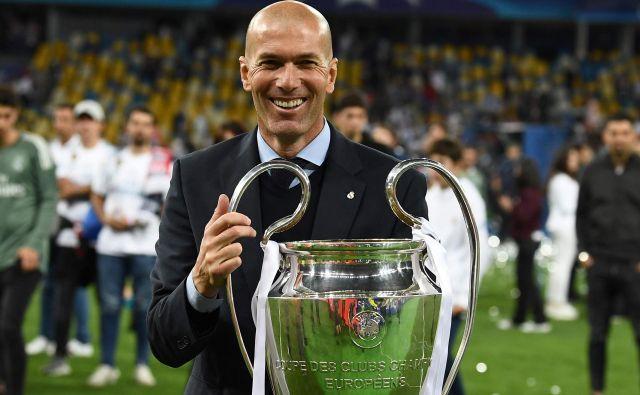 Zinedine Zidane z zadnjo lovoriko v ligi prvakov FOTO: AFP