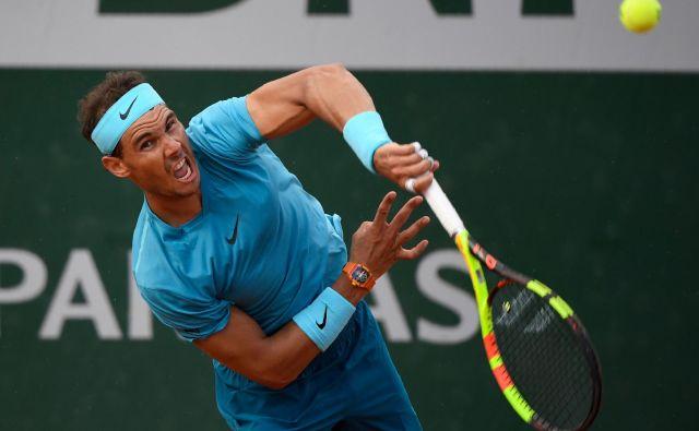 Rafael Nadal je v treh nizih oddal le štiri igre. Foto Eric Feferberg/AFP