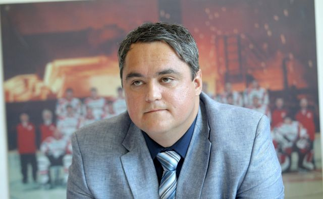 Anže Pogačar, predsednik železarjev, temeljito razmišlja o prihodnosti kluba. Foto Roman Šipić