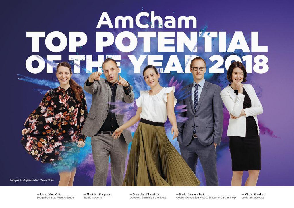 Vita Godec (Lenis farmacevtika) prejela naziv AmCham Top Potential