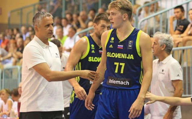 Igor Kokoškov in Luka Dončić.