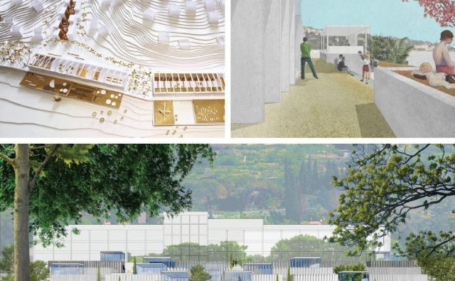 Študentski dom na klifu Foto Arhiv Centra Arhitekture Slovenije