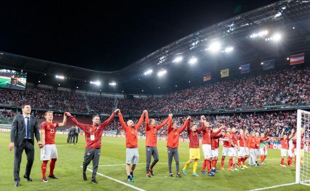 Celovec je ob avstrijski zmagi proti Nemčiji doživel veliki večer, na vrsti je zdaj še gostovanje Brazilcev na Dunaju. FOTO: AFP