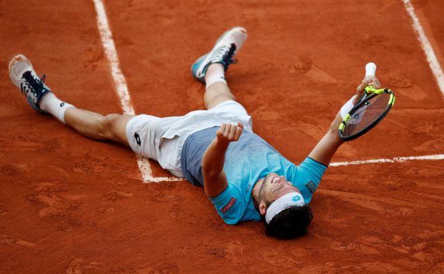 Marco Cecchinato do letošnjega Roland Garrosa ni dobil nobenega dvoboja na turnirjih za veliki slam, zdaj je pariški četrtfinalist. FOTO: Reuters