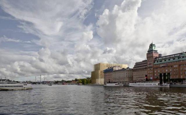 Kritiki novega Nobelovega centra so že v preteklosti opozarjali na njegove neustrezne dimenzije, neprimerne za umestitev na stockholmskem polotoku Blasieholmen. FOTO: Arhiv David Chipperfield Architects