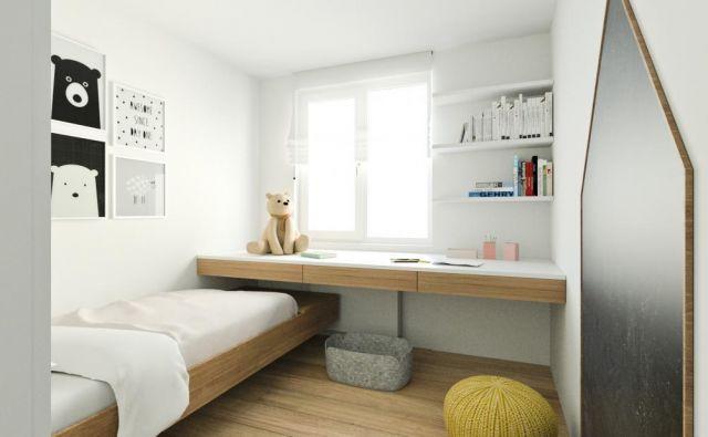 Pohištvo je zasnovano tako, da ustvarja občutek, kot da lebdi.
