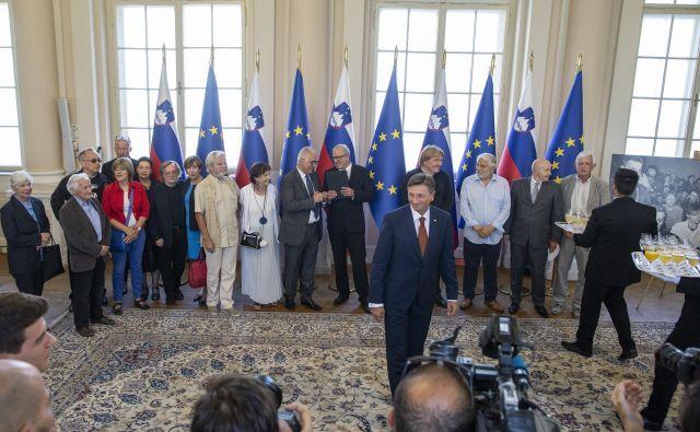 Sprejem pri predsedniku Borutu Pahorju ob 30. obletnici ustanovitve odbora za človekove pravice. FOTO: Voranc Vogel/Delo