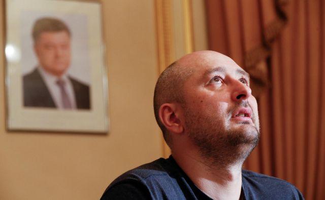 Ruski »ubiti in potem spet oživljeni« novinar Arkadij Babčenko.<br /> FOTO: Reuters